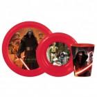 Star Wars Kylo Ren Geschirrset mit Teller, Schale und Trinkbecher