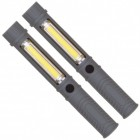 2er Set COB-LED Taschenlampen in grau mit Magnet