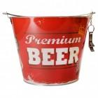 Biereimer Vintage Beer Bierkühler mit Flaschenöffner aus Metall
