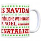 Kaffeebecher mit Spruch: Fröhliche Weihnachten