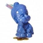 Baby Buddha Spardose in blau