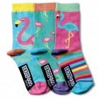 Verrückte Socken Oddsocks Flamingo für Mädchen im 3er Set