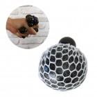 Netz Stressball mit Leuchteffekt in schwarz