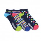 Neon-Muster Füßlinge Oddsocks Socken in 39-46 im 3er Set