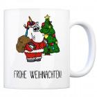 Kaffeebecher mit Spruch: Frohe Weihnachten!