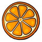 Orange Badetuch