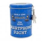 Strafe für Smartphone-Sucht Spardose