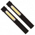 2er Set COB-LED Taschenlampen in schwarz mit Magnet