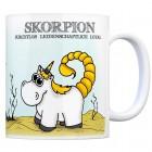 Honeycorns Kaffeebecher mit Sternzeichen Skorpion Motiv