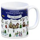 Haan, Rheinland Weihnachten Kaffeebecher mit winterlichen Weihnachtsgrüßen