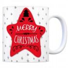 Kaffeebecher mit Weihnachtsstern Motiv und Spruch: Merry Christmas