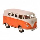 Volkswagen VW T1 Bus Modellauto mit Rückziehmotor in orange