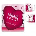 Einhorn Kaffeebecher mit Herz Motiv und Spruch: Mama ... ist die Beste!