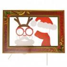 Weihnachten Photo Booth im 4er Set mit Bilderrahmen