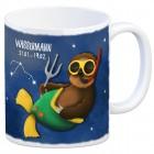 Kaffeebecher mit Faultier Sternzeichen Wassermann Motiv