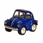 VW Käfer Comic Style Modellauto mit Rückziehmotor in blau