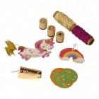 Einhorn Geschenkanhänger mit 55 Teilen