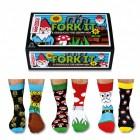 Verrückte Socken Oddsocks Fork It für Männer im 6er Set