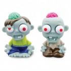 2er Set Mini Zombie Stressbälle mit Gehirn