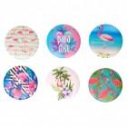Flamingo Taschenspiegel im 6er Set