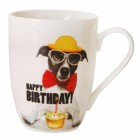 Jack Russell Hund Happy Birthday Kaffeebecher