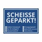 Die Scheisse Geparkt! Notizzettel mit StVO für die Windschutzscheibe im 50er Set