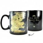 Game of Thrones Karte von Westeros Kaffeebecher mit Wärmeeffekt