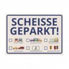 Scheisse Geparkt! Comic Edition Notizblock für die Windschutzscheibe im 50er Set