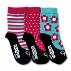 Verrückte Oddsocks Ditsy Socken für Mädchen im 3er Set