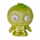 Mini Monster Stressball in grün mit Skelett