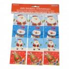 Weihnachtsgeschenke Sticker im 12er Set