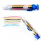 Regenbogen Kugelschreiber mit 8 farbigen Minen in blau