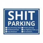 Shit Parking Scheisse Geparkt! Notizblock in Englisch