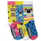 Oddsocks Mops Socken im 3er Set