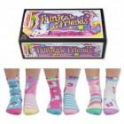 Verrückte Märchenfiguren Socken mit Einhorn Oddsocks im 6er Set