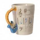 Bass 3D Kaffeebecher mit Gitarre als Griff