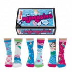 Meerjungfrau Oddsocks Socken in 37-42 im 6er Set
