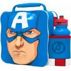 Avengers Captain America 3D Lunchbox mit Trinkflasche