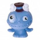 Mini Monster Stressball in blau mit Knochen im Haar