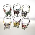 Schmetterling Glasmarkierer im 6er Set