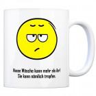 Kaffeebecher mit Spruch: Nasse Wäsche kann mehr als ihr! ...