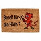 Teufel - Bereit für die Hölle Fußmatte