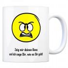 Kaffeebecher mit Spruch: Zeig mir deinen Boss und ich sage ...