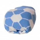 Fussball Socken in hellblau und weiß im Paar