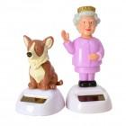 Queen und Corgi Solarfiguren im 2er Set