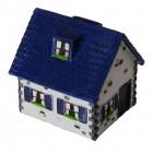 Haus Spardose in blau