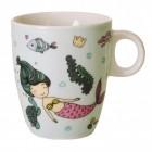 Meerjungfrau Kaffeebecher in türkis