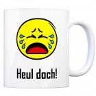 Kaffeebecher mit Spruch: Heul doch!