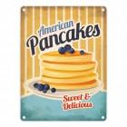 American Pancakes Metallschild