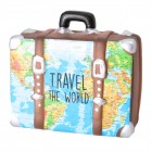 Travel the World Koffer Spardose in bunt-braun